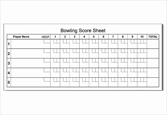 Bowling Scoring Sheet Excel Beautiful Free 11 Sample Bowling Score Sheets In Google Docs