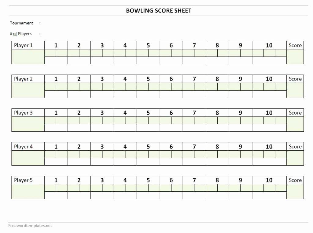 Bowling Scoring Sheet Excel Lovely Bowling Score Sheet
