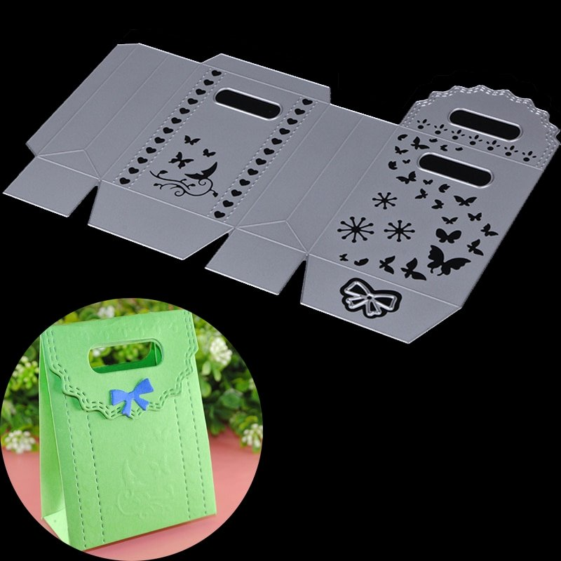 Box Die Cut Template Inspirational Gift Box Metal Cutting Dies Stencil Portable Candy Box Case Embossing Template Diy Scrapbooking