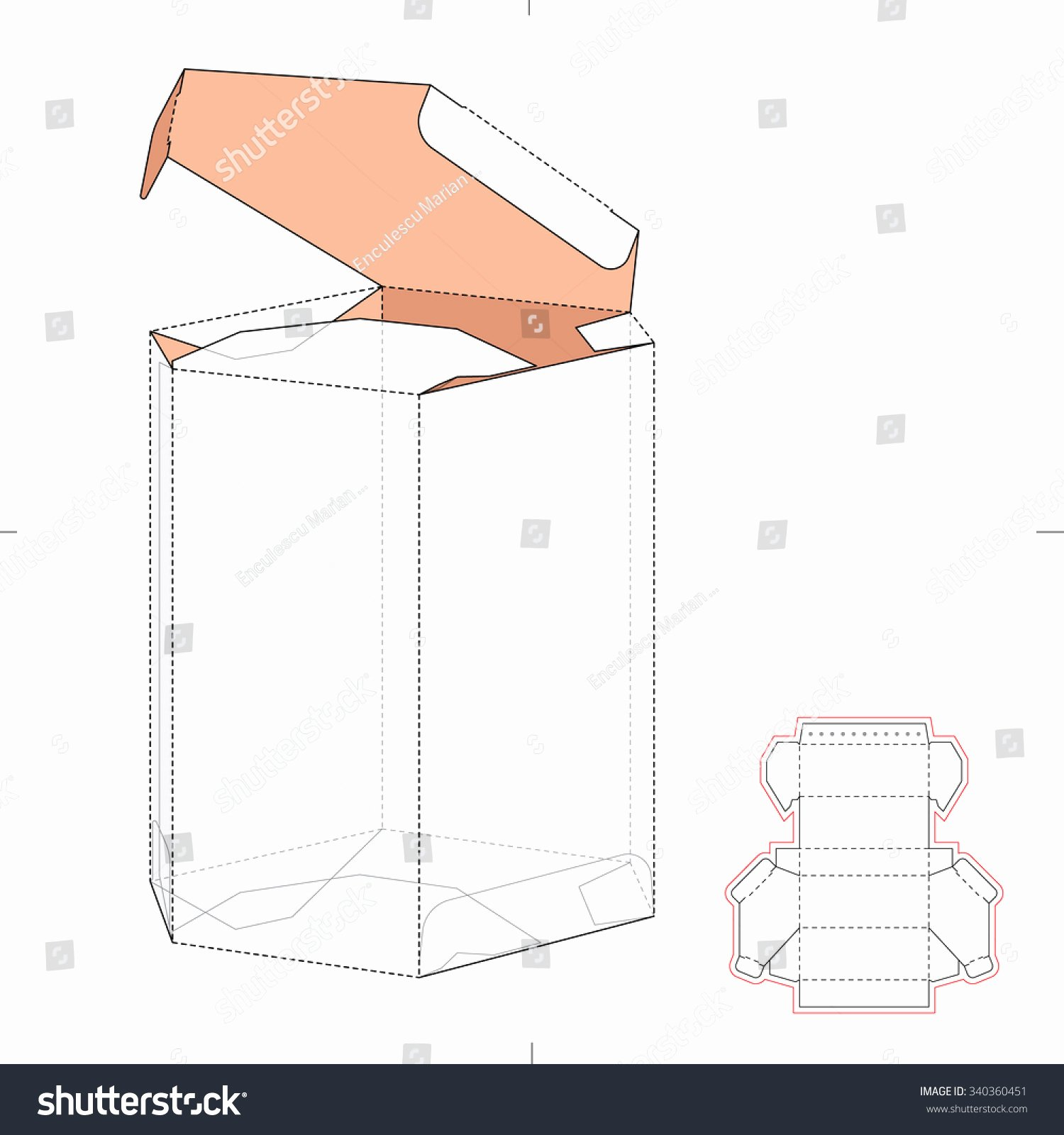 Box Die Cut Template Lovely Diamond Shaped Box Die Cut Template Stock Vector Shutterstock