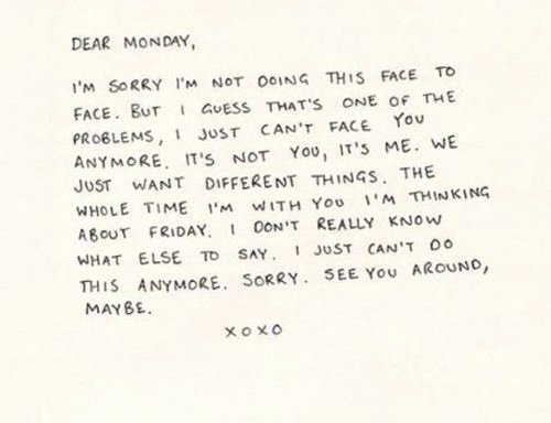Break Up Letter Examples Fresh B for Bel Break Up Letter to Monday Amusing