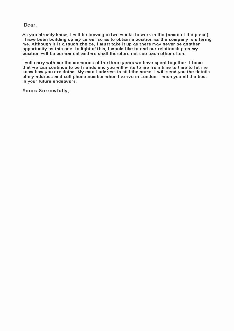 Break Up Letter to Boyfriend Elegant Break Up Letter to Boyfriend