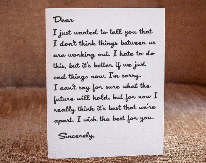 Break Up Letter to Boyfriend Lovely Break Up Letter
