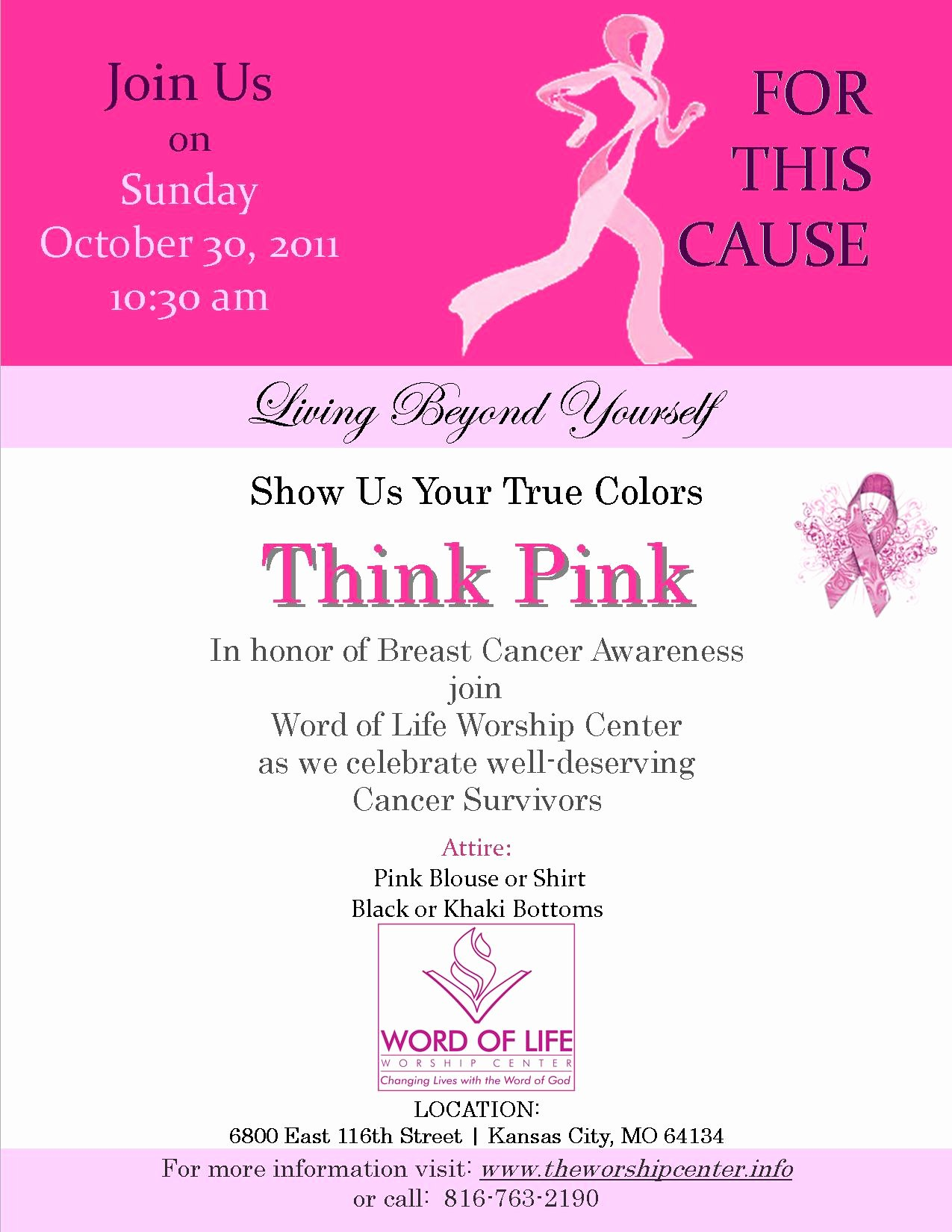 Breast Cancer Awareness Flyer Awesome Invitations by Me
