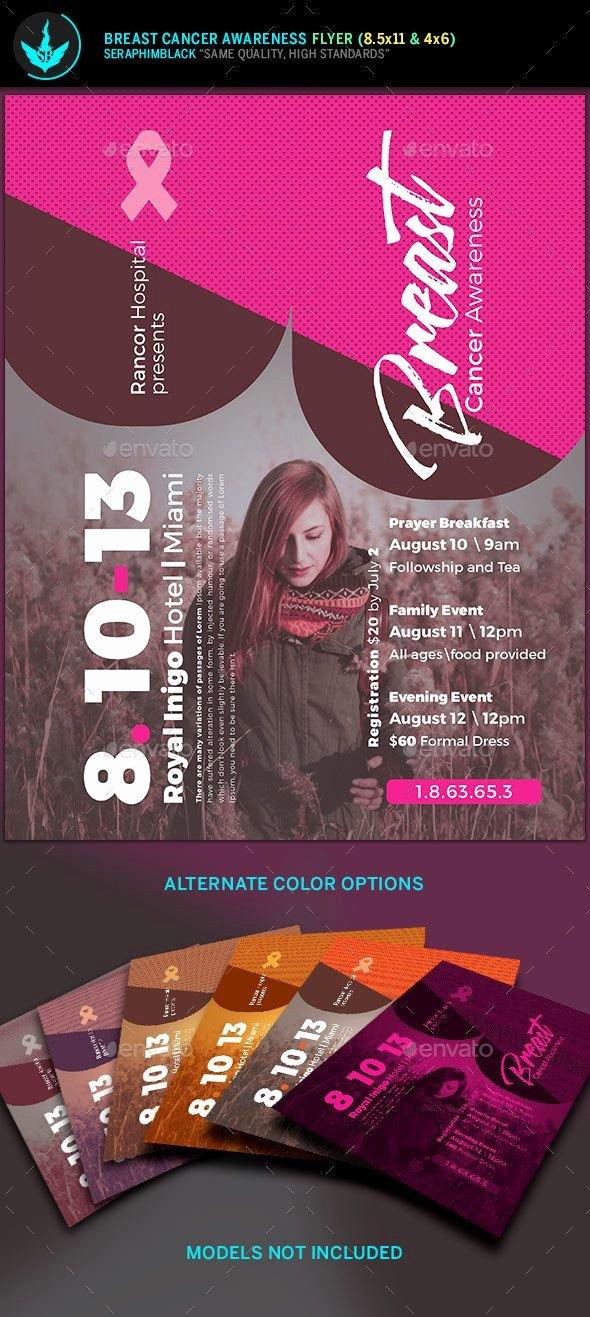 Breast Cancer Awareness Flyer Elegant Breast Cancer Awareness Flyer Template