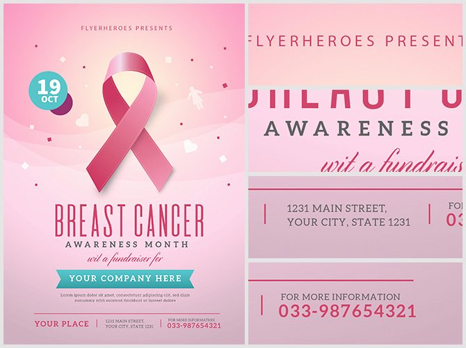 Breast Cancer Awareness Flyer Fresh Breast Cancer Awareness Month Flyer Template Flyerheroes