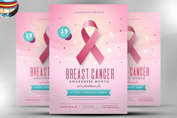 Breast Cancer Awareness Flyer Inspirational Hispanic Heritage Month event Flyer Template Designtube Creative Design Content