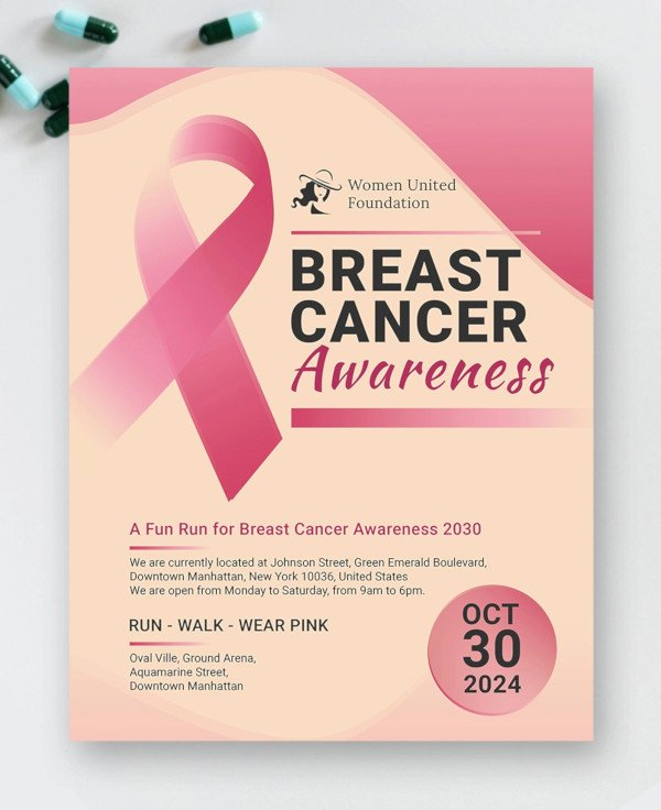 Breast Cancer Awareness Flyer Lovely 21 Breast Cancer Flyer Templates & Creatives Psd Ai Indesign