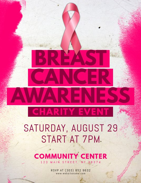 Breast Cancer Awareness Flyer New Breast Cancer Awareness Flyer Template