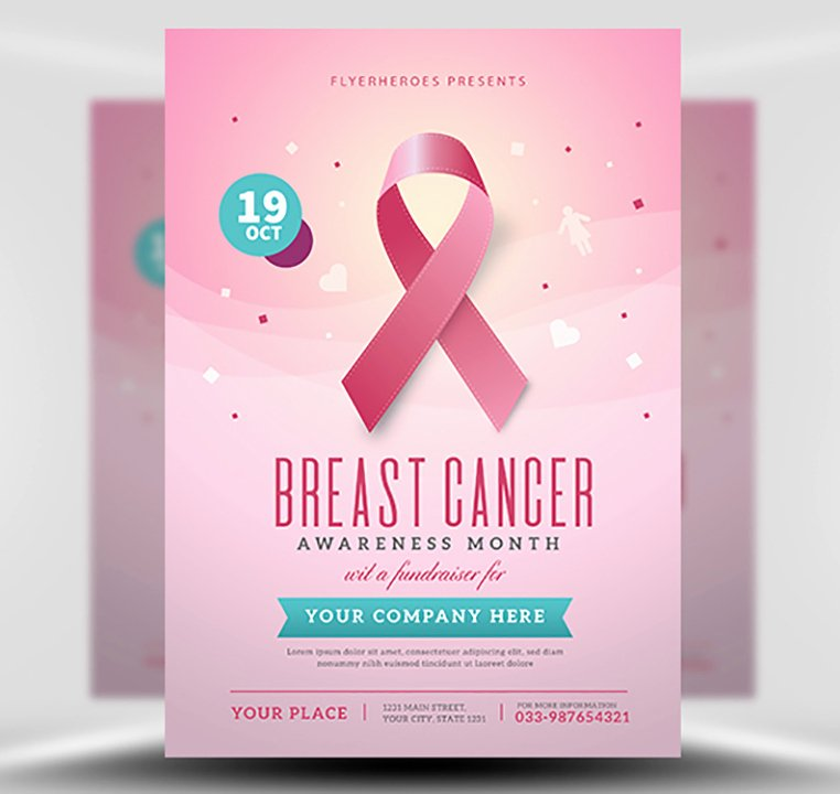 Breast Cancer Awareness Flyer Unique Breast Cancer Awareness Month Flyer Template Flyerheroes