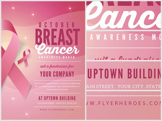 Breast Cancer Flyer Template Beautiful Breast Cancer Awareness Month Flyer Template V2 Flyerheroes