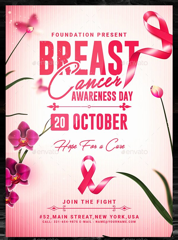Breast Cancer Flyer Template Best Of 23 Cancer Awareness Flyer Templates Free & Premium Download