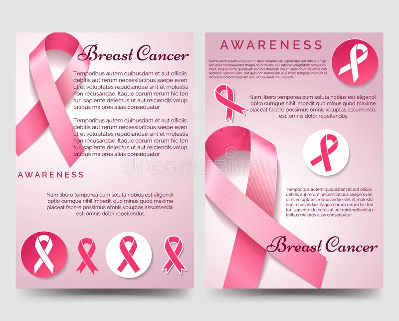 Breast Cancer Flyer Template Fresh Breast Cancer Awareness Brochure Template Stock Vector Image