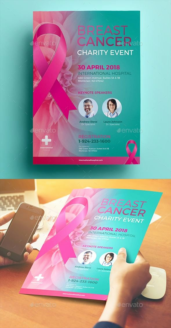 Breast Cancer Flyer Template Fresh Breast Cancer Charity Flyer Flyer Templates