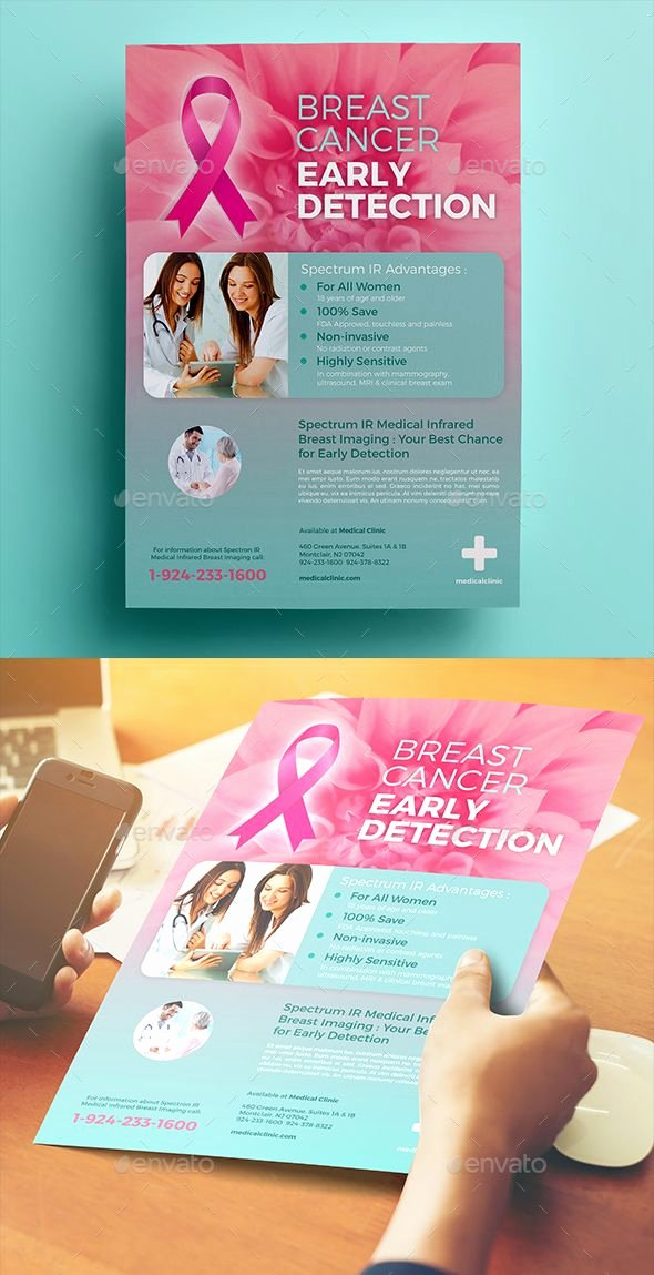 Breast Cancer Flyer Template Fresh Breast Cancer Flyer 02 This Flyer Can Be Used to Advertise Your Own Health Clinic Especially