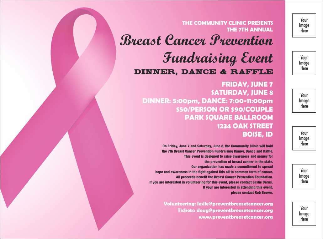 Breast Cancer Flyer Template Fresh Pink Ribbon Flyer