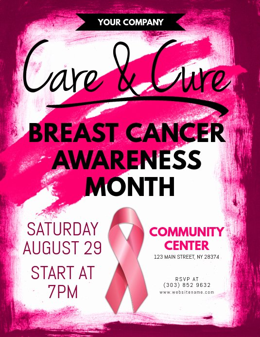 Breast Cancer Flyer Template New Breast Cancer Awareness Flyer Template