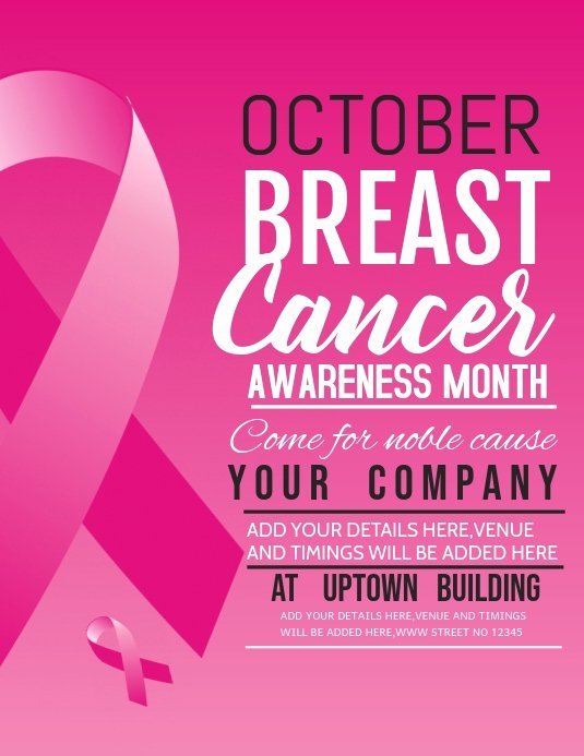 Breast Cancer Flyer Template Unique event Flyer Breast Cancer Awareness Day Flyer Template