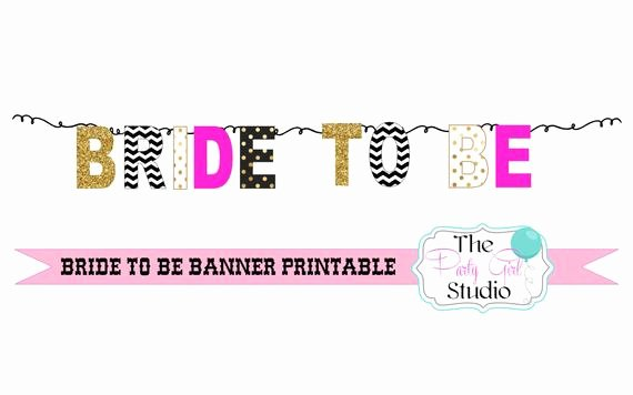 Bridal Shower Banner Template Best Of Bride to Be Banner Printable Diy Bunting Bridal Shower