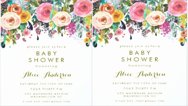 Bridal Shower Banner Template Unique 5 Floral Invitation Banners Psd