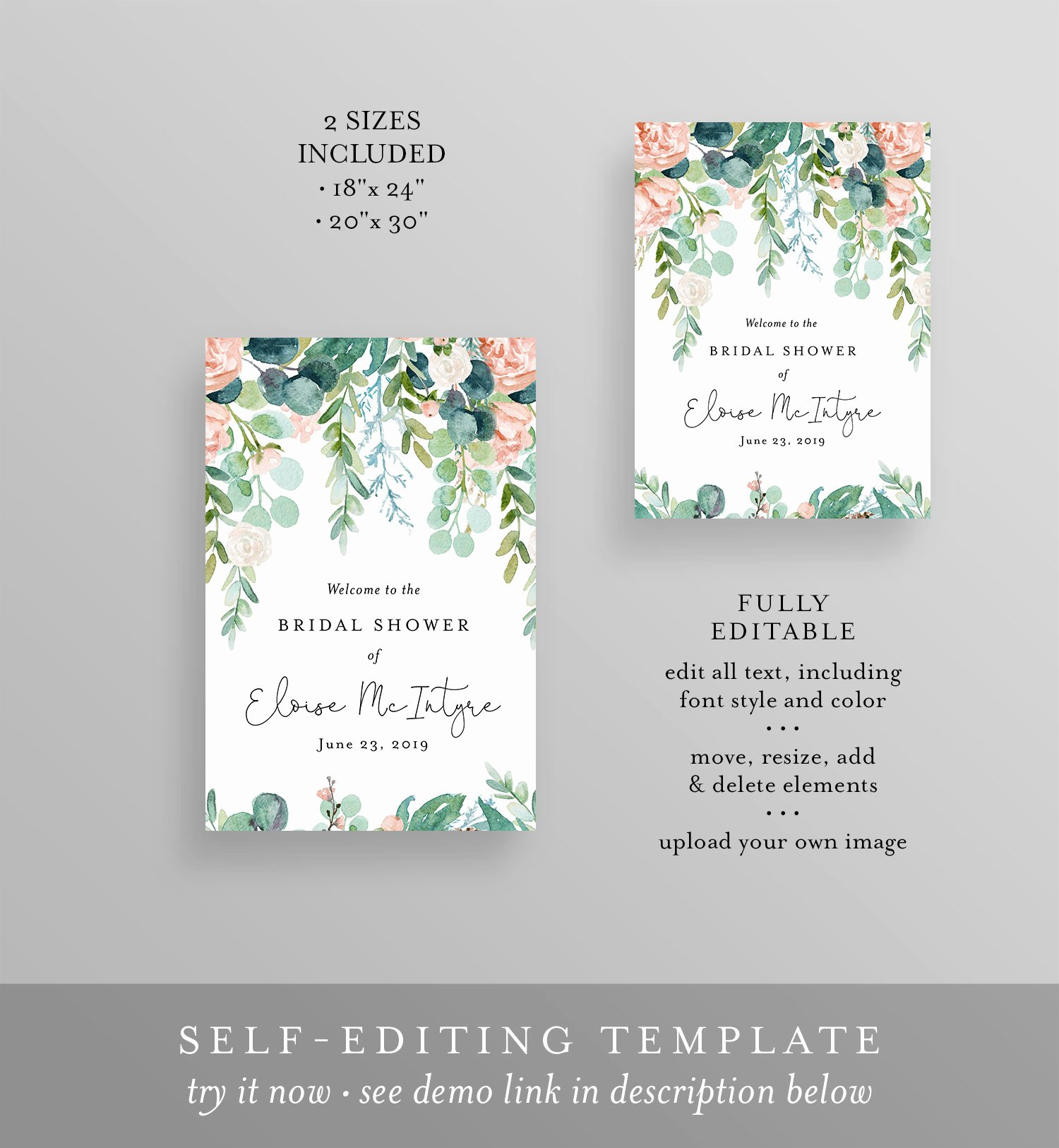 Bridal Shower Welcome Sign Template Awesome Bridal Shower Wel E Sign Editable Template Printable