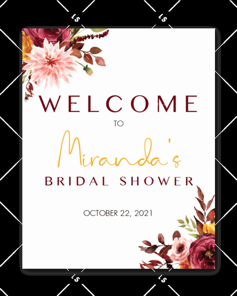printable bridal shower wel e signs