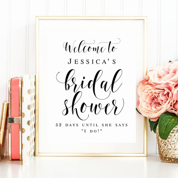 Bridal Shower Welcome Sign Template Inspirational Wel E Bridal Shower Sign Editable Template Wel E Sign