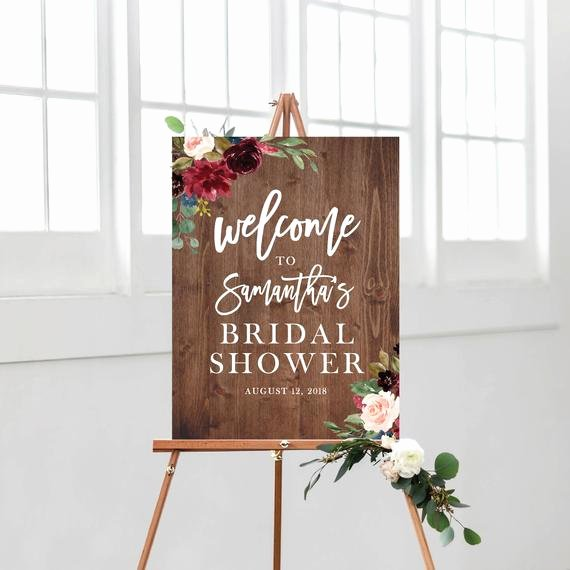 Bridal Shower Welcome Sign Template Luxury Wel E Sign Bridal Shower Template Bridal Shower Wel E