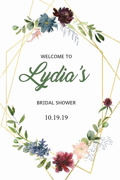 Bridal Shower Welcome Sign Template New Bridal Shower Wel E Sign Template