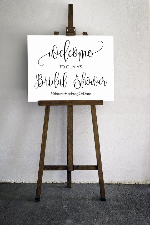 Bridal Shower Welcome Sign Template Unique Editable Bridal Shower Wel E Sign Template In An Elegant