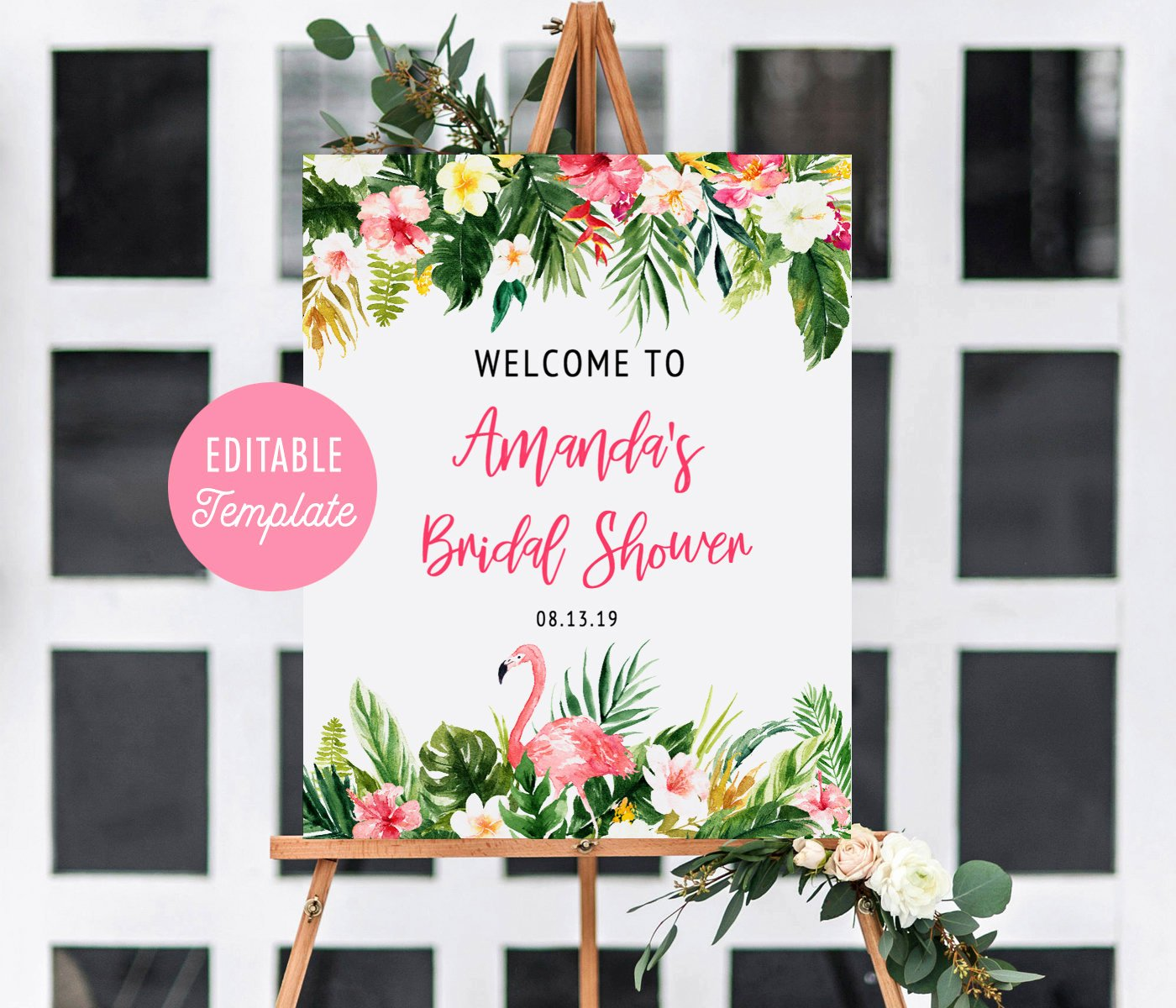 Bridal Shower Welcome Sign Template Unique Tropical Bridal Shower Wel E Sign Template Summer Bridal