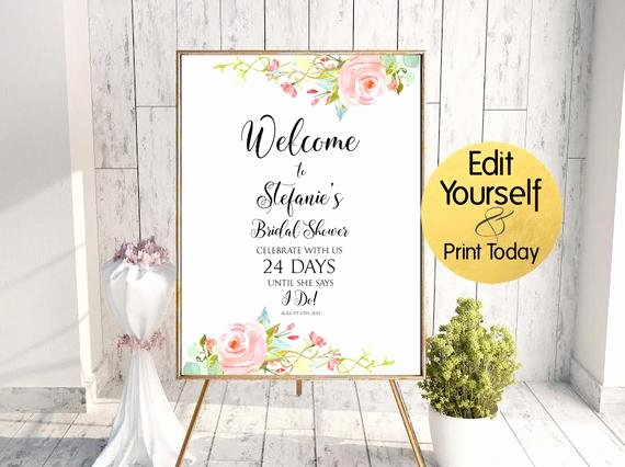 Bridal Shower Welcome Sign Template Unique Wel E Sign Template Bridal Shower Wel E Sign Bridal