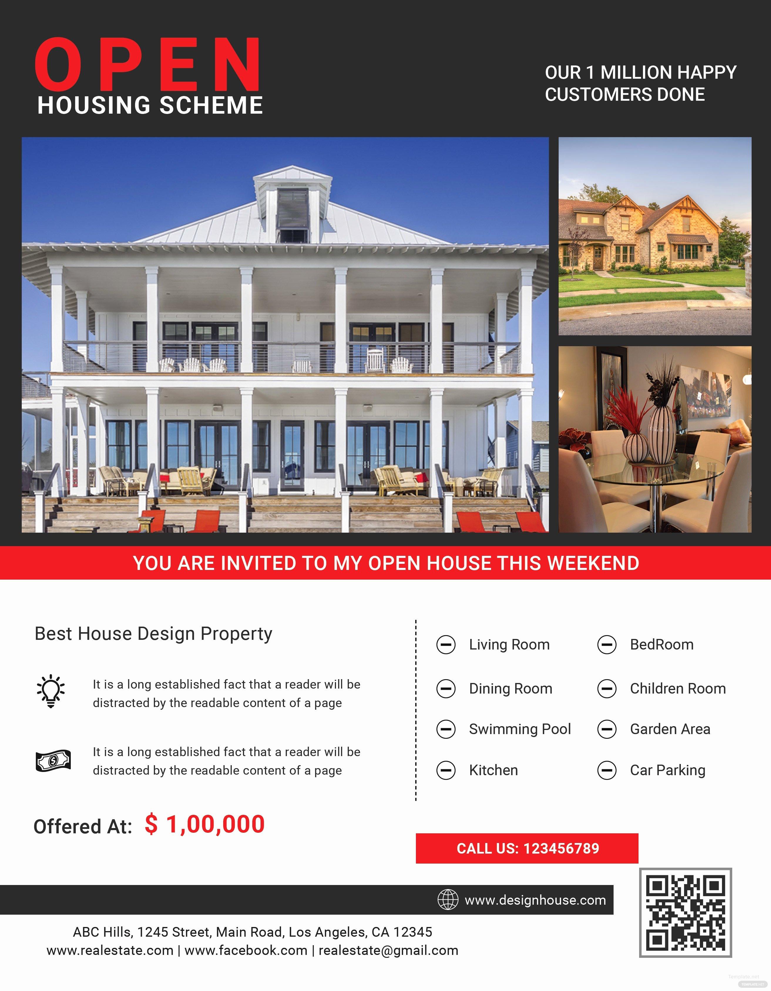 Broker Open House Flyer Awesome Luxury Open House Flyer Template In Adobe Shop