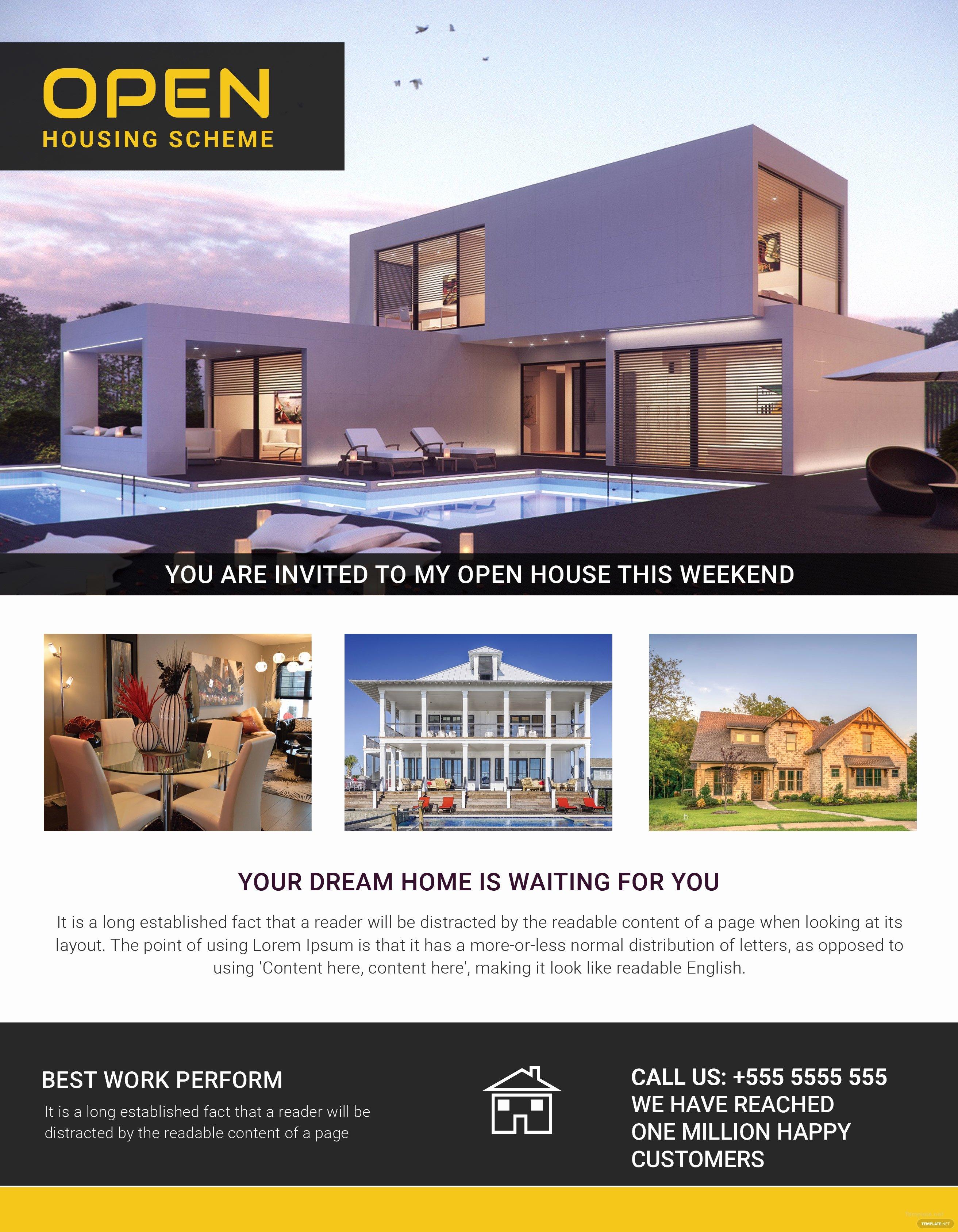 Broker Open House Flyer Best Of Open Housing Scheme Flyer Template In Adobe Shop