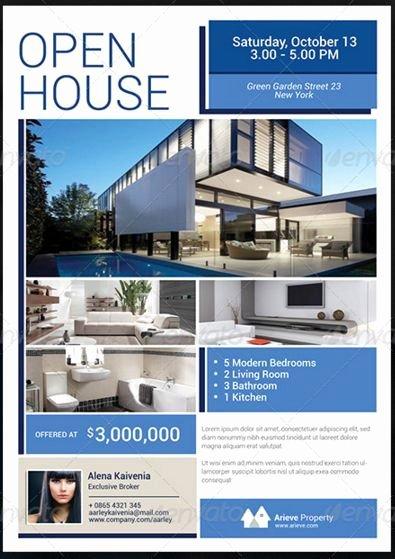 Broker Open House Flyer Elegant Sample Real Estate Flyer at Open House