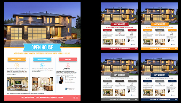 Broker Open House Flyer Elegant Simple Series