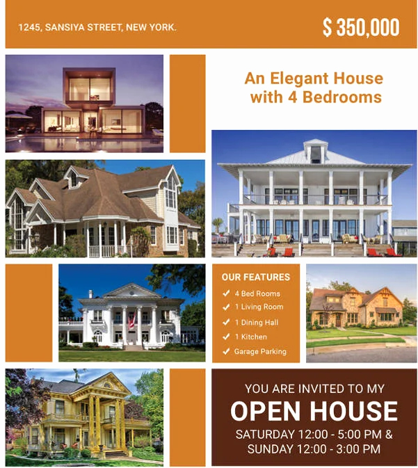 Broker Open House Flyer Unique 15 Best Free Open House Flyer Templates