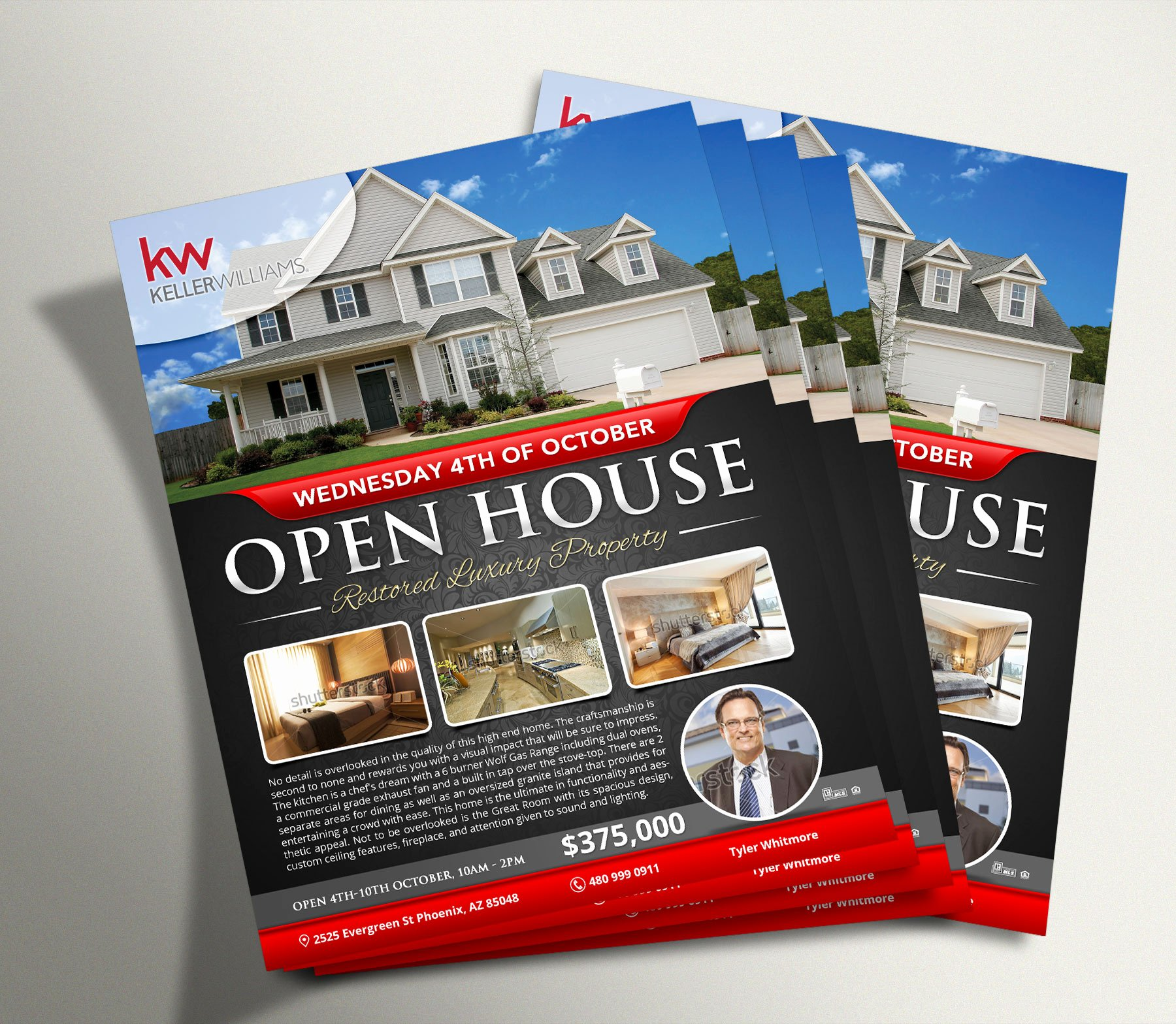 Broker Open House Flyer Unique Custom Marketing Materials $10 Ea Unlimited Revisions