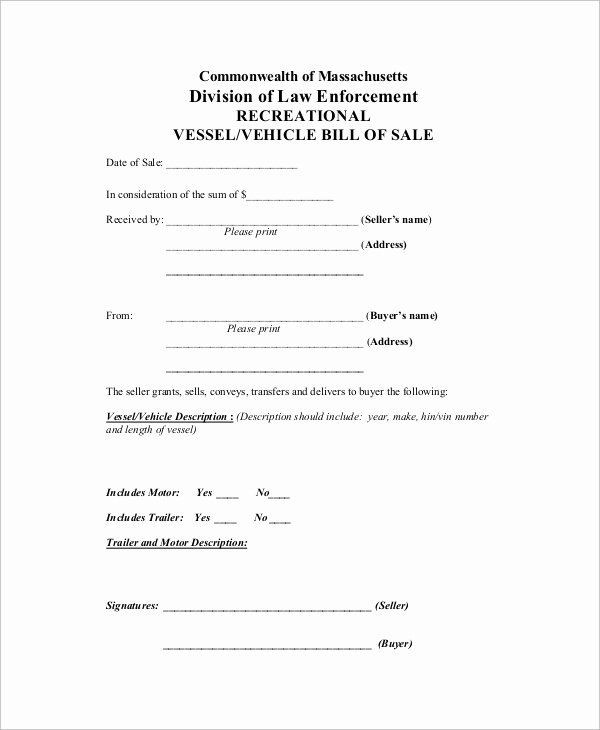 Business Bill Of Sale Luxury Sample Bill Of Sale 20 Examples In Pdf