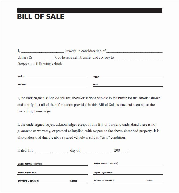 Business Bill Of Sale Pdf Best Of 8 Auto Bill Of Sale Doc Pdf