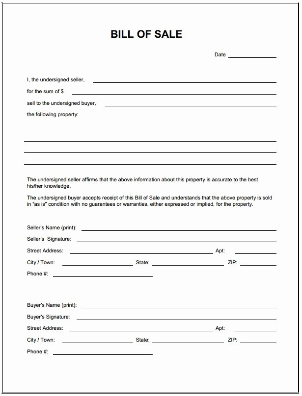 Business Bill Of Sale Pdf New Download Bill Sale form Pdf