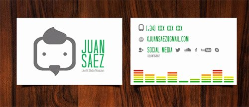 Business Card for Musicians Beautiful 20 Fantastic Business Cards for Musicians