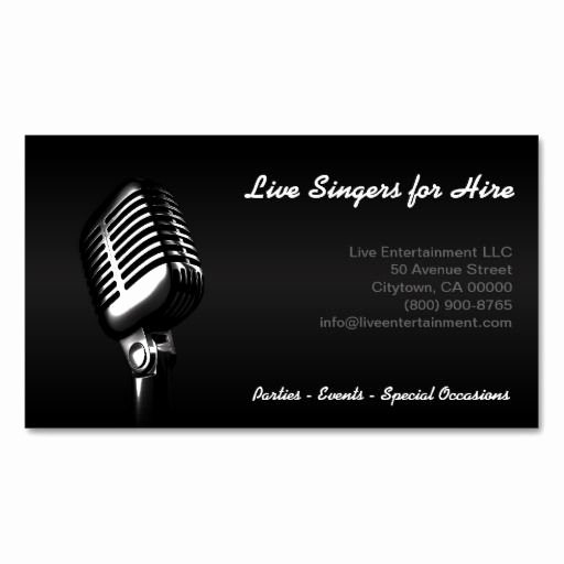 Business Card for Musicians Elegant 303 Best Musician Business Cards Images On Pinterest
