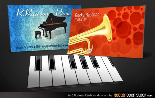 Business Card for Musicians Fresh Musicians Business Card Design Template