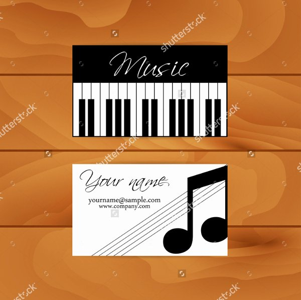 Business Card for Musicians Inspirational 20 Musician Business Card Free Psd Eps Illustrator Eps Downloads