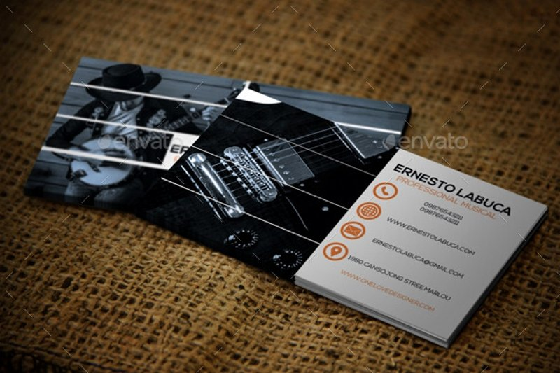 Business Card for Musicians Luxury Musician Business Card Examples
