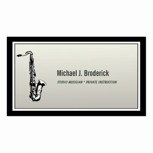 Business Card for Musicians Luxury Saxophone Professional Musician Business Card