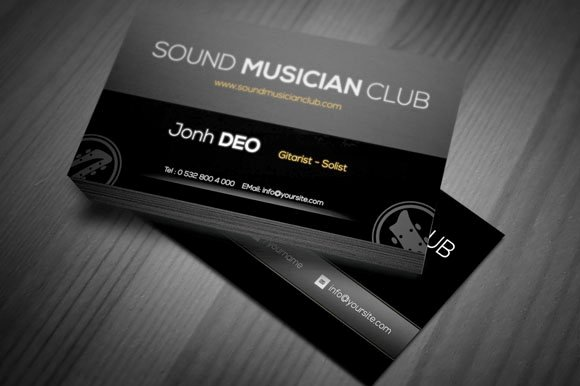 Business Card for Musicians New Smc A Musician Business Card Business Card Templates Creative Market