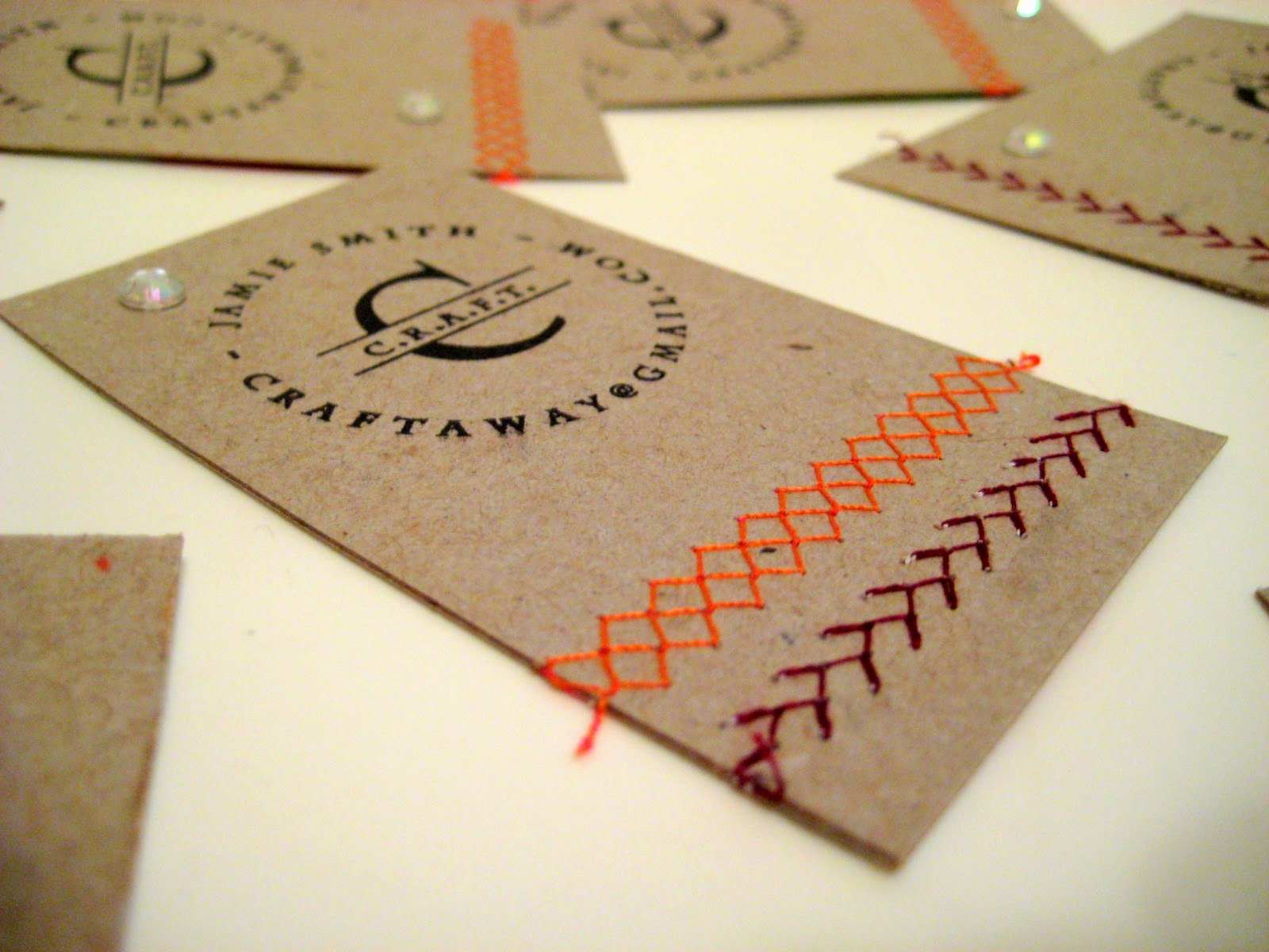 Business Card Ideas for Crafters Lovely Diy Business Cards Think Crafts by Createforless