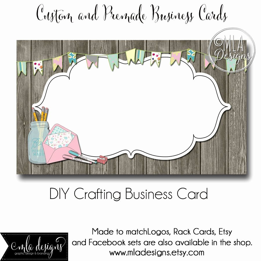 craft business card template crafting
